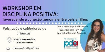 Workshop de Disciplina Positiva com Marcella Benoliel Zaninetti