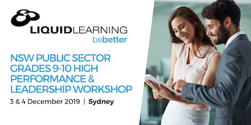 NSW Public Sector Grades 9-10 High Performance & Leadership Workshop