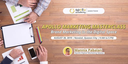 Apollo Marketing Masterclass: Brand Marketing in the Digital Space