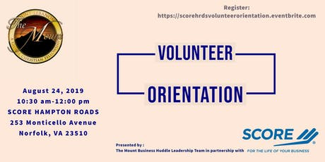 SCORE Hampton Roads Volunteer Orientation  tickets