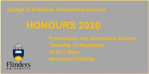 CBGL Honours 2020 Presentation and Information Session