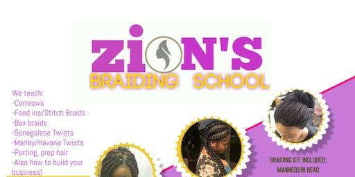 ZION'S BRAIDING CLASS LITTLE ROCK