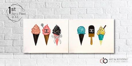 Sip & Paint Date Night : Chanel Ice-cream tickets