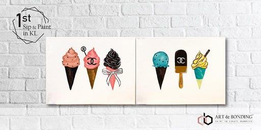 Sip & Paint Date Night : Chanel Ice-cream