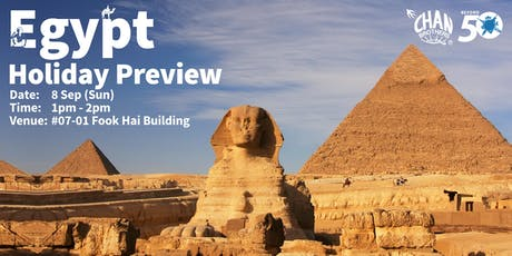 Egypt Holiday Preview tickets