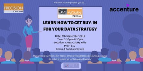 Women in Data | Learn how to get buy-in for your Data Strategy tickets