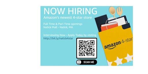 Amazon 4-Star Natick Mall Hiring