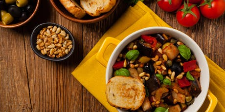 Sicilian Caponata Pasta with Eggplant, Roasted Peppers, Tomatoes & Olives tickets