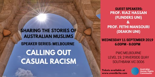 Speaker Series: Calling out Casual Racism
