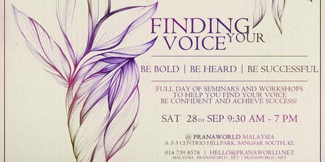Finding Your Voice - Full Day of Workshops tickets