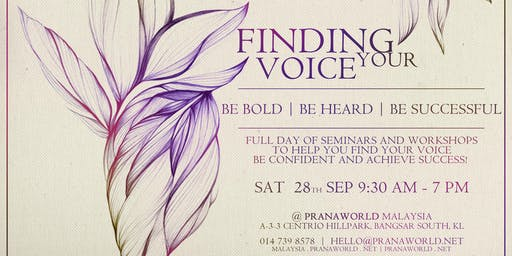 Finding Your Voice - Full Day of Workshops