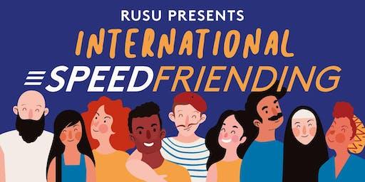 RUSU Presents: International Speed Friending