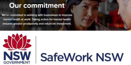Business Breakfast - Mental health at work- Why it Matters - SafeworkNSW tickets