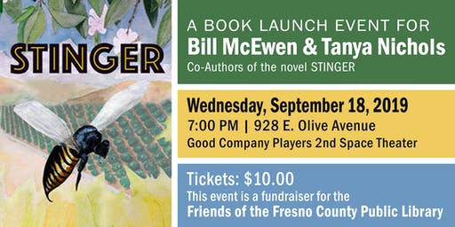 Book Launch for Stinger, a Novel by Bill McEwen and Tanya Nichols