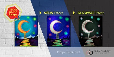 Sip & Paint Night : NEON Paint Party - Melting Moon tickets