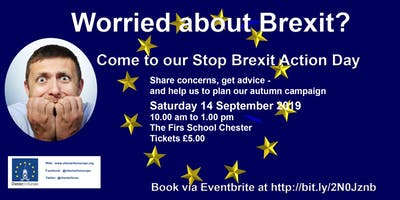 Worried about Brexit?  Want to take some action? This is the event for you!