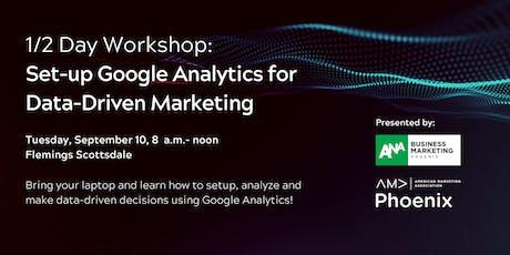 Workshop: Set up Google Analytics for Data-Driven Marketing tickets