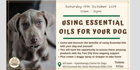 Using Essential Oils For Your Dog tickets