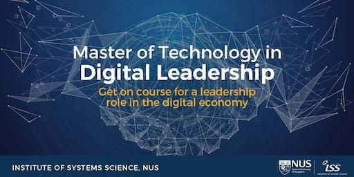 Master of Technology in Digital Leadership Programme Information Session
