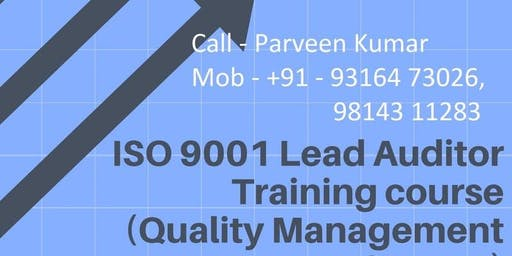 ISO 9001 Lead Auditor Course Certified