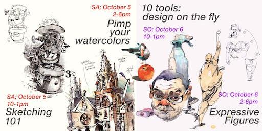San Francisco: Urban Sketching Intensive Weekend!