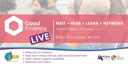Good Finance LIVE Midlands: Birmingham