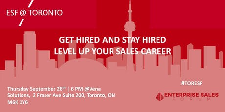 Get Hired and Stay Hired - Level up your Sales Career tickets