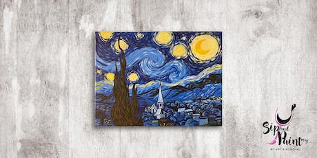 Sip & Paint MY @ Mezze Bistro Medan Damansara : Van Gogh's Starry Night tickets