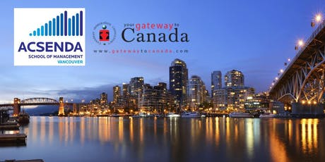 Immigrate to Canada via Acsenda School of Management tickets