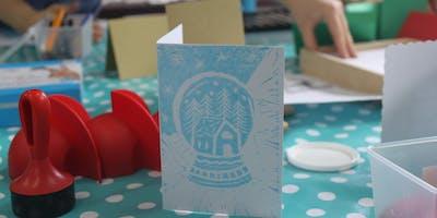 Festive Lino Printing at Stitch Studio
