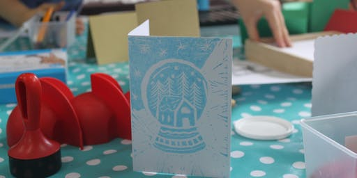 Festive Lino Printing at Stitch Studio