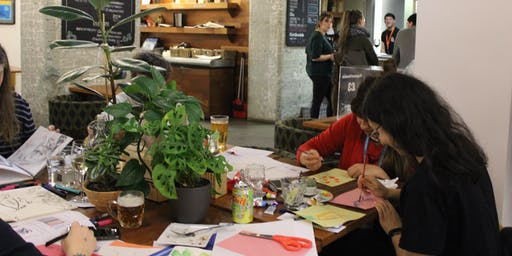 Drink and Draw at The Tetley