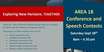 Area18 Conference and Speech Contests