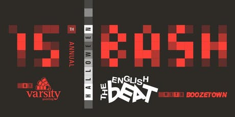 15th Annual Halloween Bash featuring The English Beat tickets