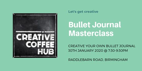 Bullet Journal Masterclass tickets