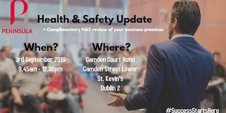 Health & Safety Update tickets