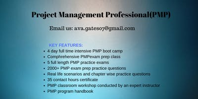 Project Management (PMP) Training in VANCOUVER, BRITISH COLUMBIA