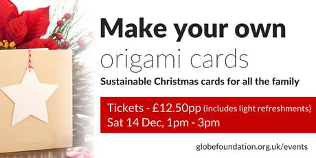 Make your own origami cards tickets