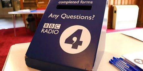 Live BBC Radio 4 Broadcast: Any Questions? tickets