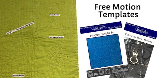 Free Motion Quilting Templates Class