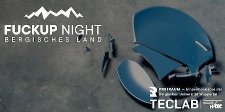 2. Bergische FUCKUP NIGHT Tickets
