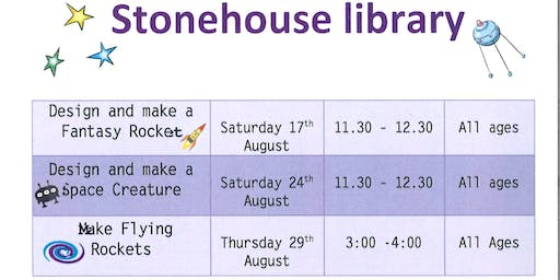 Stonehouse Library Design and make a space creature craft