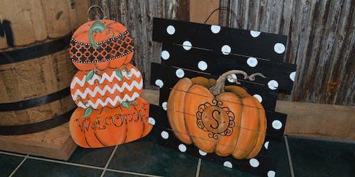 Pumpkin Door Hanger Workshop