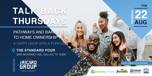 August Talk Back Thursday: Pathways And Barriers To Home Ownership