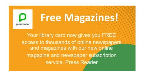 Access Free Online Newspapers & Magazines - Drop in Information Session tickets