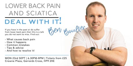 Lower Back Pain & Sciatica | Deal With It!  tickets