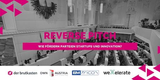 Reverse Pitch - wie fördern Parteien Startups und Innovation?