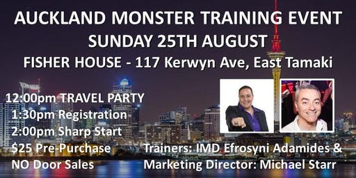AUCKLAND MONSTER TRAINING EVENT!