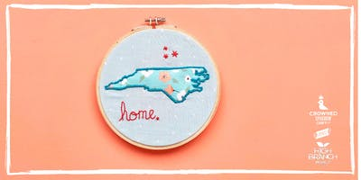 "Crowned Sparrow Co.: craftXcraft | ""Home"" State Stitch"