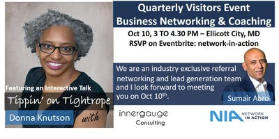 Network in Action - Quarterly Visitors Event - Business Networking & Coaching